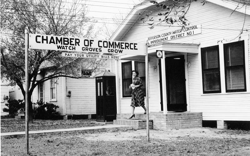 Archived Photo of Groves Chamber of Commerce Office
